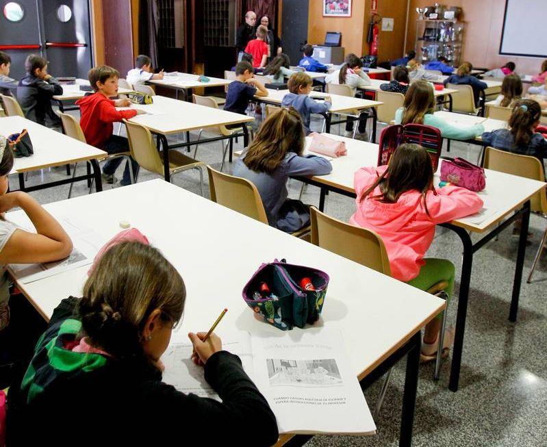 Niños en un colegio de Zaragoza. Foto: El Periódico de Aragón