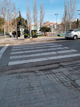 Paso de cebra María de Aragón - Higuera
