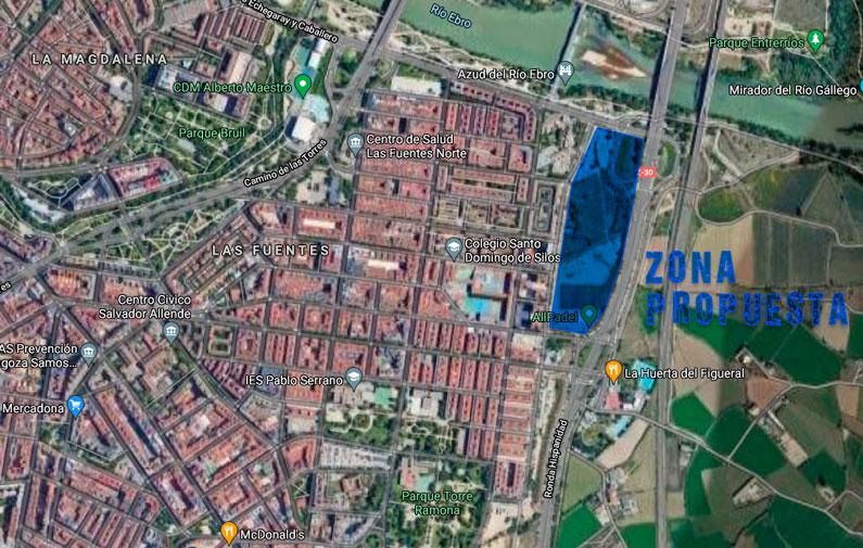 Plan Estratégico Las Fuentes Mapa Urbanización